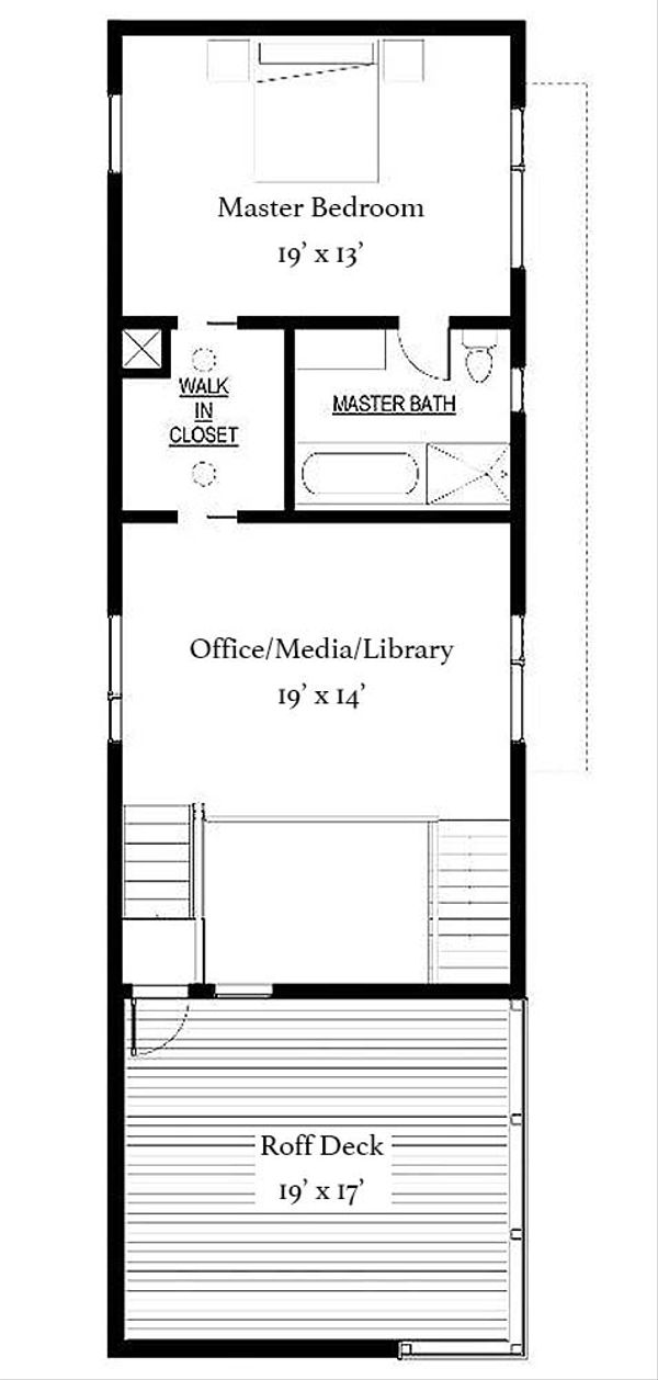 Modern Floor Plan - Upper Floor Plan Plan #497-53