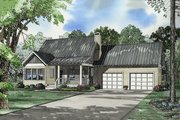 Country Style House Plan - 2 Beds 2 Baths 1294 Sq/Ft Plan #17-522 Exterior - Front Elevation