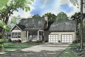 Country Exterior - Front Elevation Plan #17-522