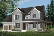 Country Style House Plan - 3 Beds 2 Baths 1740 Sq/Ft Plan #23-622 Exterior - Front Elevation