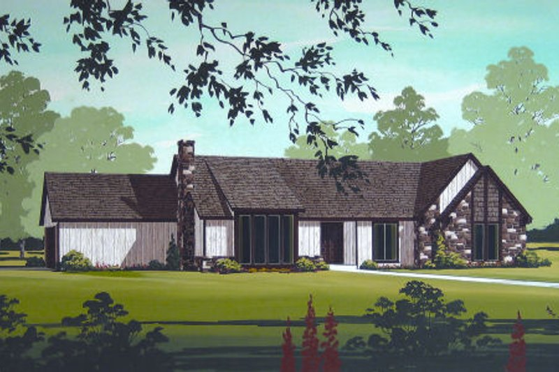 Modern Exterior - Front Elevation Plan #45-323