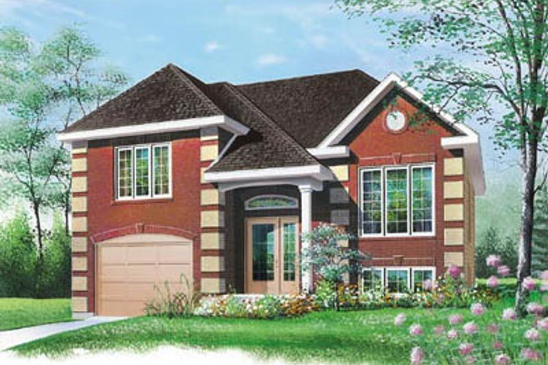 European Exterior - Front Elevation Plan #23-315 - Houseplans.com