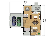 Contemporary Style House Plan - 3 Beds 2.5 Baths 2453 Sq/Ft Plan #25-4263 Floor Plan - Main Floor Plan