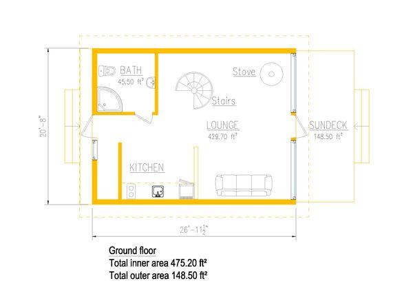 Cabin Floor Plan - Main Floor Plan #549-30