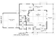 Farmhouse Style House Plan - 3 Beds 2.5 Baths 2400 Sq/Ft Plan #932-137 Floor Plan - Main Floor