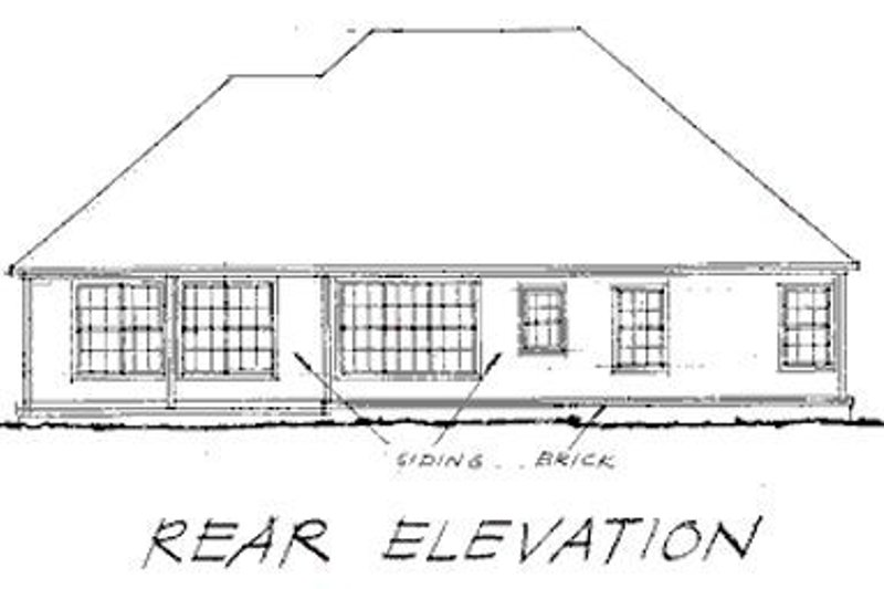 Traditional Exterior - Rear Elevation Plan #20-116 - Houseplans.com
