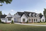 Farmhouse Style House Plan - 4 Beds 3.5 Baths 3272 Sq/Ft Plan #1074-3 Exterior - Front Elevation