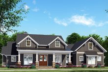 Dream House Plan - Craftsman Exterior - Front Elevation Plan #923-133