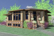 Modern Style House Plan - 4 Beds 3.5 Baths 2747 Sq/Ft Plan #509-1 Exterior - Front Elevation