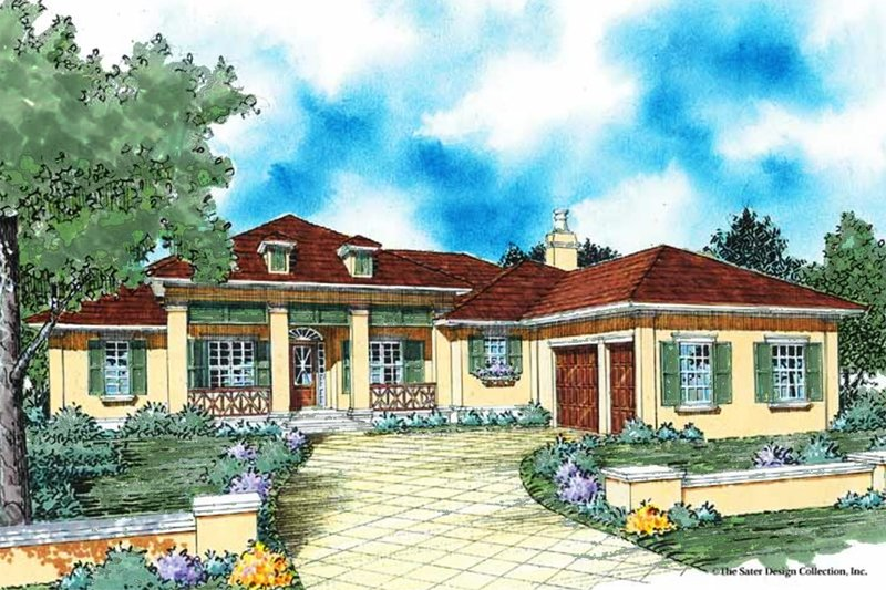 Colonial Exterior - Front Elevation Plan #930-351