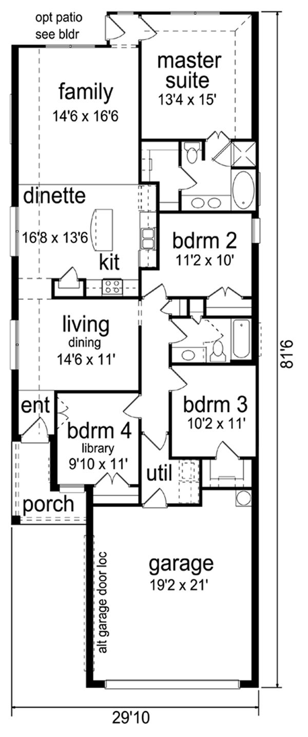 Traditional Floor Plan - Main Floor Plan Plan #84-641