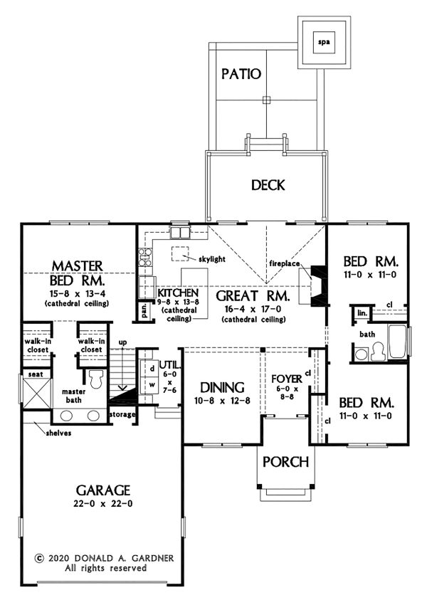 Dream House Plan - Farmhouse Floor Plan - Main Floor Plan #929-1106