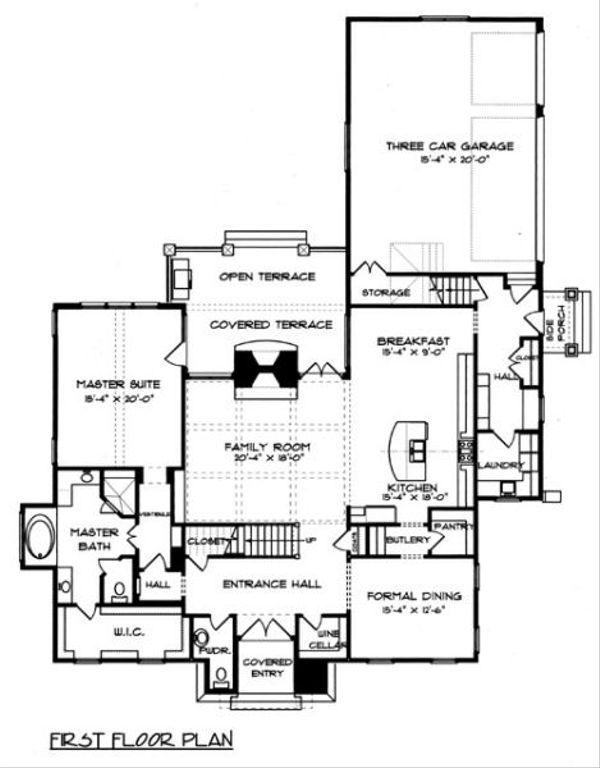 European Floor Plan - Main Floor Plan Plan #413-131