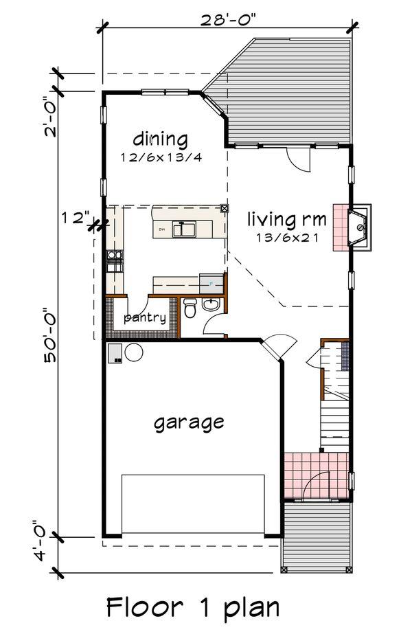 Modern Floor Plan - Main Floor Plan #79-300