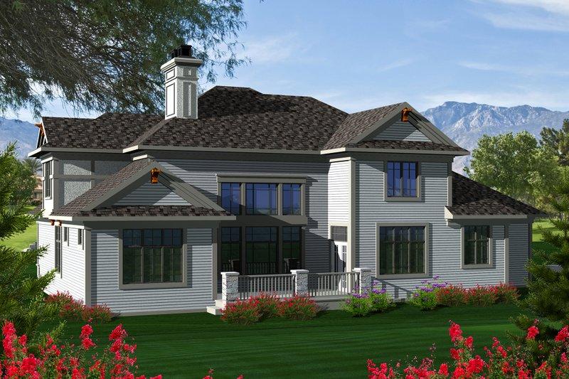 Tudor Exterior - Rear Elevation Plan #70-1141 - Houseplans.com