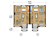 Contemporary Style House Plan - 6 Beds 2 Baths 3423 Sq/Ft Plan #25-4397 Floor Plan - Main Floor Plan