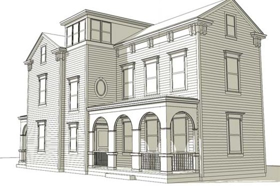 Colonial Exterior - Front Elevation Plan #477-6