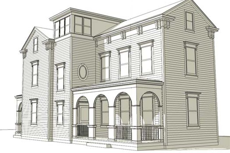 Colonial Style House Plan - 3 Beds 2.5 Baths 1940 Sq/Ft Plan #477-6 Exterior - Front Elevation