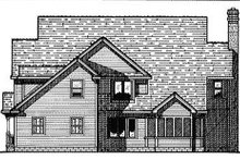 Colonial Exterior - Rear Elevation Plan #20-1104
