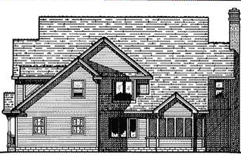 Colonial Exterior - Rear Elevation Plan #20-1104 - Houseplans.com