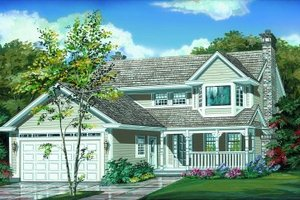Traditional Exterior - Front Elevation Plan #47-133