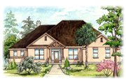 Mediterranean Style House Plan - 5 Beds 2.5 Baths 2750 Sq/Ft Plan #80-172