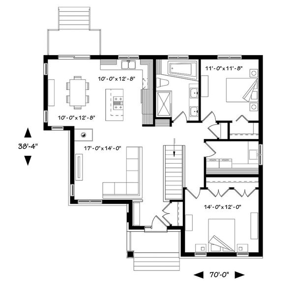 Ranch Floor Plan - Main Floor Plan #23-2616