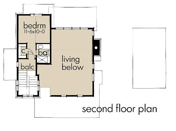 Contemporary Floor Plan - Upper Floor Plan Plan #120-190