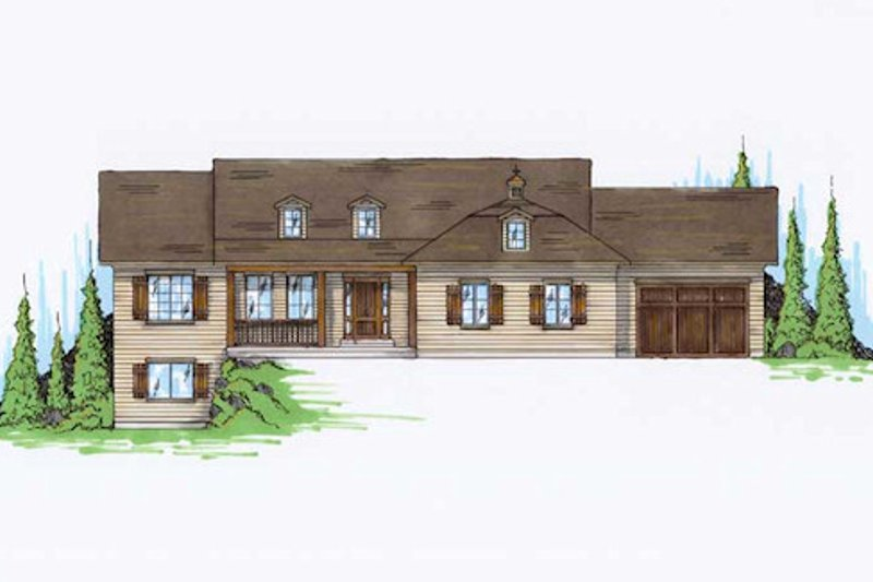 Home Plan - Traditional Exterior - Front Elevation Plan #5-245