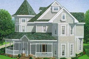 Dream House Plan - Victorian Exterior - Front Elevation Plan #410-150