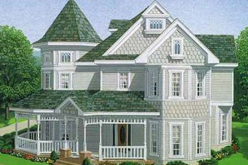 Victorian Exterior - Front Elevation Plan #410-150 - Houseplans.com