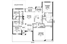 European Floor Plan - Main Floor Plan Plan #84-589