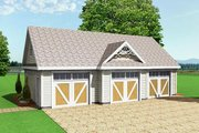 Farmhouse Style House Plan - 0 Beds 0 Baths 1036 Sq/Ft Plan #75-191 Exterior - Front Elevation