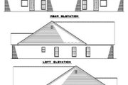 Traditional Style House Plan - 3 Beds 2 Baths 2854 Sq/Ft Plan #17-1068 Exterior - Rear Elevation