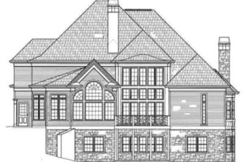 European Exterior - Rear Elevation Plan #119-140 - Houseplans.com