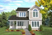 Cottage Style House Plan - 4 Beds 3 Baths 1638 Sq/Ft Plan #50-114 Exterior - Front Elevation