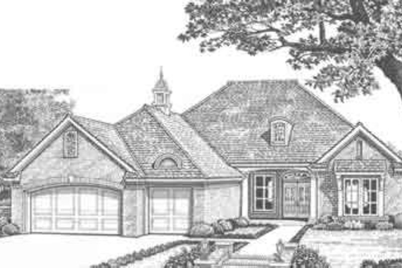 Traditional Style House Plan - 3 Beds 2.5 Baths 2198 Sq/Ft Plan #310-320 Exterior - Front Elevation