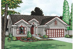Home Plan - Traditional Exterior - Front Elevation Plan #20-112