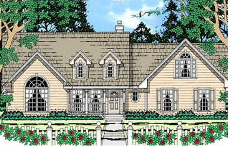 Farmhouse Exterior - Front Elevation Plan #42-341 - Houseplans.com