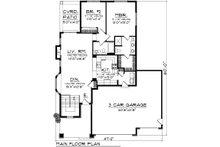 Ranch Floor Plan - Main Floor Plan Plan #70-1019