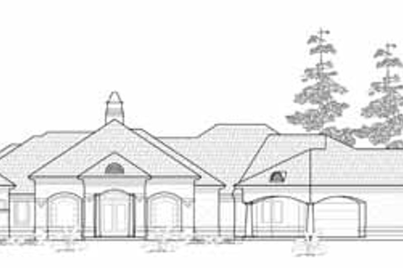 Exterior - Front Elevation Plan #61-257