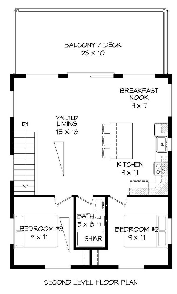 Contemporary Floor Plan - Upper Floor Plan Plan #932-181