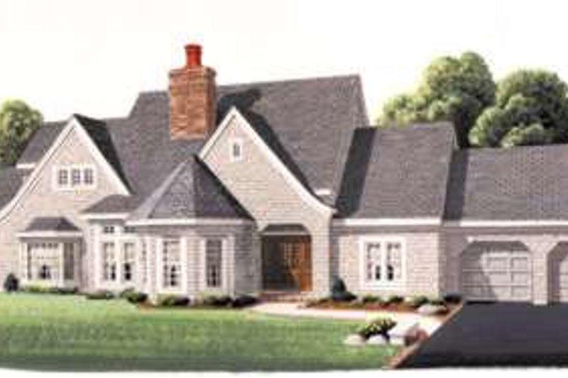 Home Plan - European Exterior - Front Elevation Plan #410-196