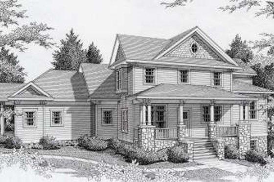 Craftsman Exterior - Front Elevation Plan #112-146