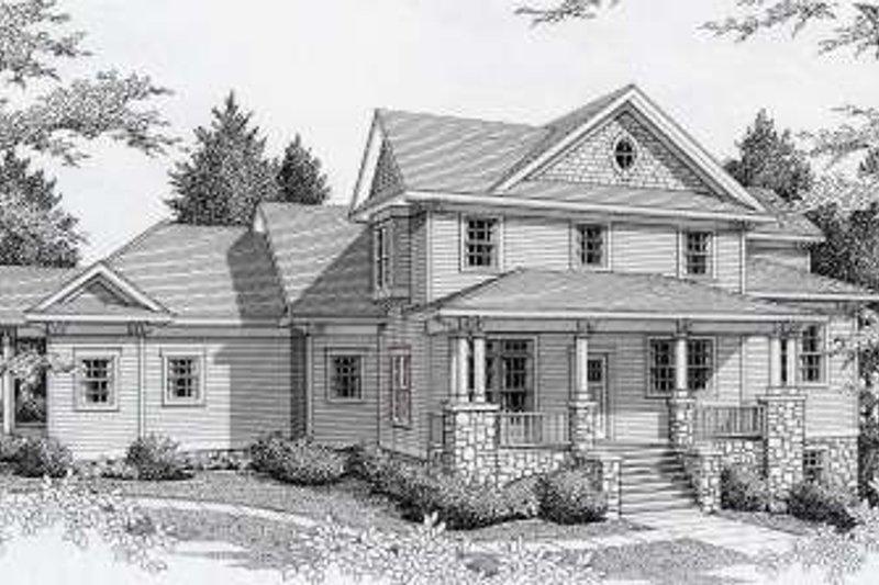 Craftsman Style House Plan - 5 Beds 4 Baths 2970 Sq/Ft Plan #112-146