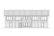 Architectural House Design - Contemporary Exterior - Rear Elevation Plan #569-37