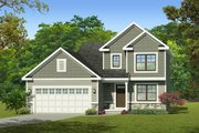 Traditional Style House Plan - 3 Beds 1.5 Baths 1274 Sq/Ft Plan #1010-219 Exterior - Front Elevation