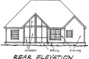 Traditional Style House Plan - 3 Beds 2 Baths 1734 Sq/Ft Plan #20-1360 Exterior - Rear Elevation