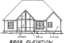 Dream House Plan - Traditional Exterior - Rear Elevation Plan #20-1360