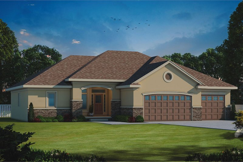 Home Plan - Traditional Exterior - Front Elevation Plan #20-2178